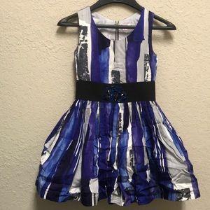 🇺🇸 Zoe LTD formal dress blue rhinestone beaded
